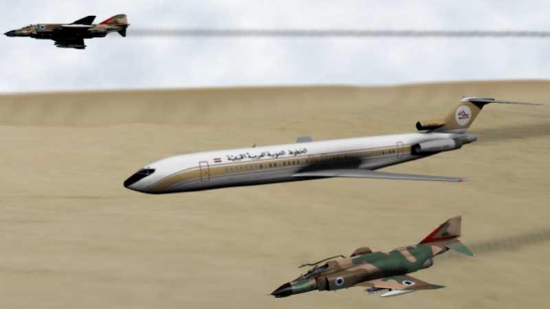 লিবিয়ার যাত্রীবাহী প্লেনের উপর ইসরায়েলি বিমানবাহিনীর বর্বরোচিত আক্রমণ