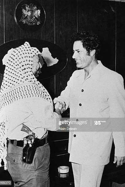 ১৯৭৮ সালে ত্রিপোলিতে গাদ্দাফির সাথে ইয়াসির আরাফাত