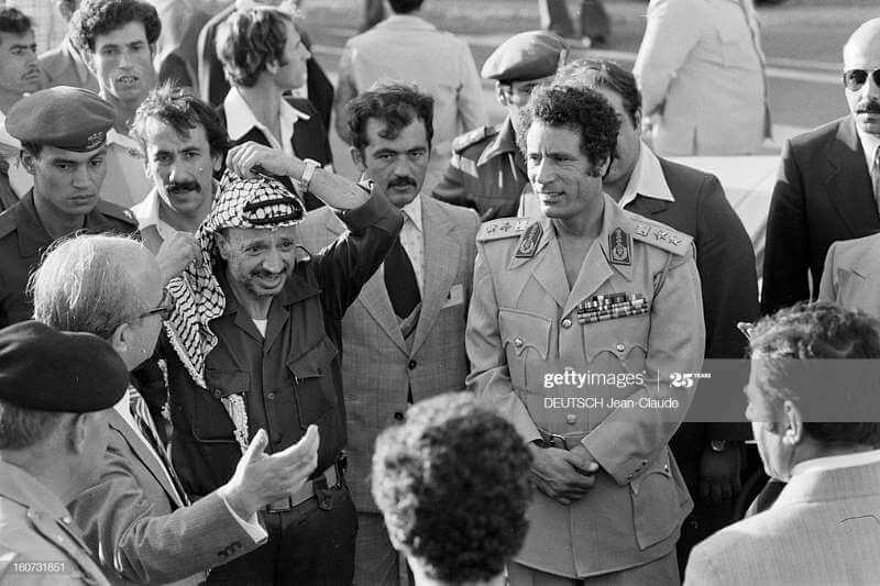 ১৯৭৮ সালে জর্ডানে গাদ্দাফি, আরাফাত এবং অন্যান্যরা